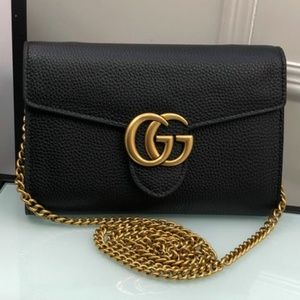 Gucci Black GG Mini Shoulder Bag 22*12CM